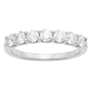 14K Certified 1CT Diamond Wedding/Anniversary Band