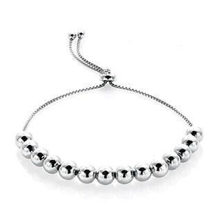 Mondevio Bead Adjustable Slider Bracelet