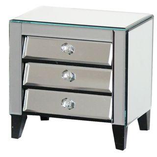 Gorgeous Mirror Jewelry Box Cabinet - Benzara