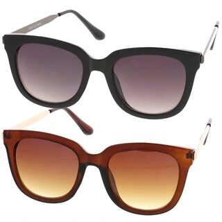 Epic Eyewear Retro Fashion Horn Rimmed Metal Temple Women Sunglasses Model S60W3203
