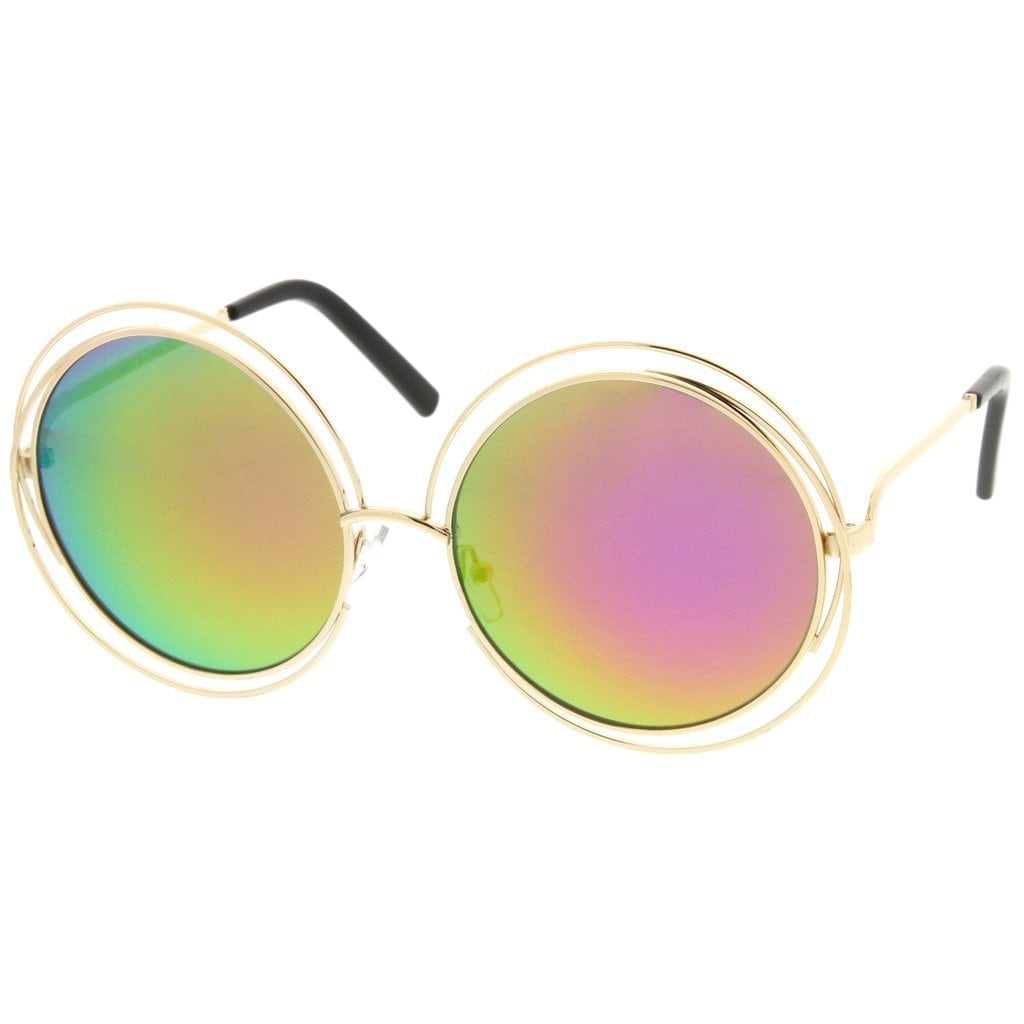 Details about Epic Eyewear Hipster Fashion Round Double Wire Flash Lens