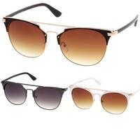 Epic Eyewear Retro Fashion Flat Top Double Wire Women Sunglasses Model S60W3181
