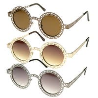 Epic Eyewear Vintage Fashion Round Wired Frame Sunglasses S61NGW3173