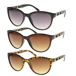 Epic Eyewear Vintage Fashion Braided Leather Cat Eye Sunglasses S61NGW3155