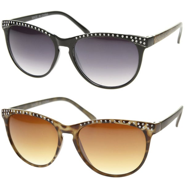 645a4058588 Shop Epic Eyewear Retro Fashion Cat Eye Metal Accent Sunglasses S61NGW3143  - Free Shipping On Orders Over  45 - Overstock.com - 16850800