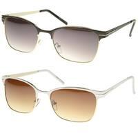 Epic Eyewear Retro Fashion Rectangular Horn Rimmed Sunglasses S61NGW3110