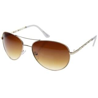 Epic Eyewear Vintage Fashion Leather Braided Aviator Sunglasses S61NGW3101