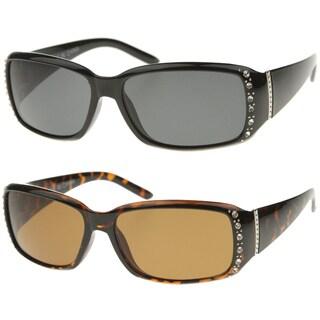 Epic Eyewear Vintage Fashion Rectangular Rhinestone Frame Sunglasses S61NGW3099