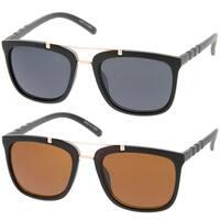 Epic Eyewear Retro Fashion Square Frame Double Bar Women Sunglasses Model 57