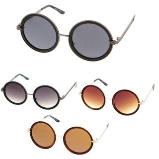 Epic Eyewear Retro Fashion Round Thick Frame Women Sunglasses Model 55