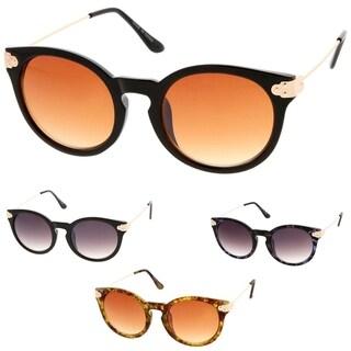 Epic Eyewear Retro Fashion Round Cat Eye Keyhole Women Sunglasses Model 52