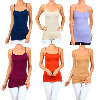 A Set of 2 Solid Seamless Cami Top Summer Color (More options available)