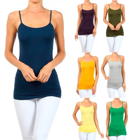 A Set of 2 Solid Seamless Cami Top Wear