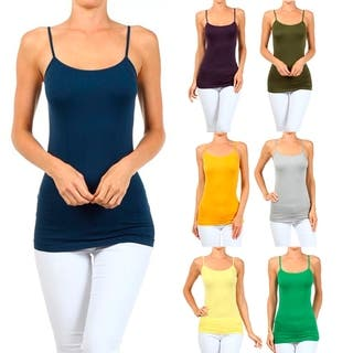 A Set of 2 Solid Seamless Cami Top Wear (Option: Gold) https://ak1.ostkcdn.com/images/products/16850877/P23149525.jpg?impolicy=medium