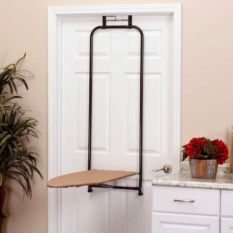 Over-the-Door Steel Top Ironing Board, Bronze
