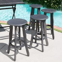 Pike Outdoor Acacia Wood Barstool (Set of 4) by Christopher Knight Home