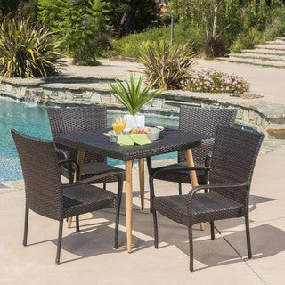 Cabrillo Outdoor 5-piece Square Dining Set by Christopher Knight Home