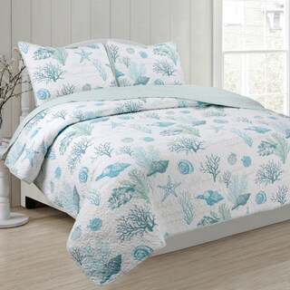Panama Jack Siesta Key 3-piece Reversible Quilt Set (Option: Full)