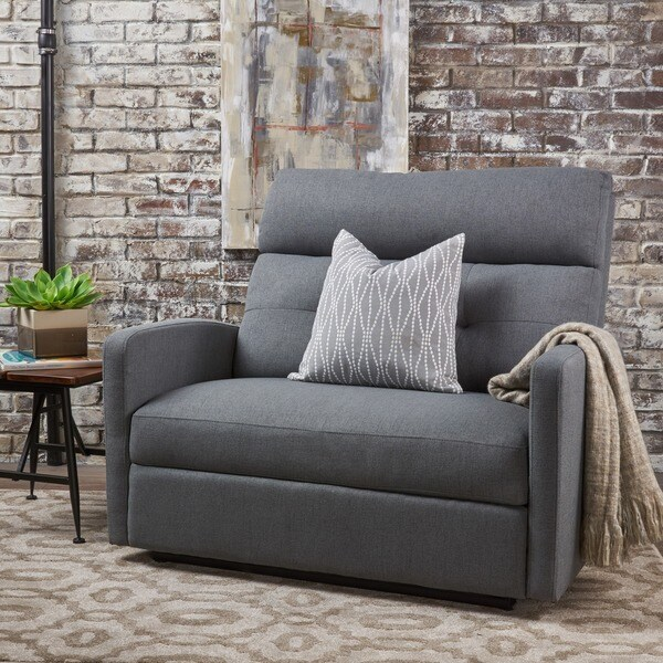 Halima Fabric 2 Seater Recliner Club Chair By Christopher Knight Home