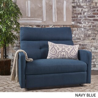Halima Fabric 2-Seater Recliner Club Chair by Christopher Knight Home (Option: Blue)
