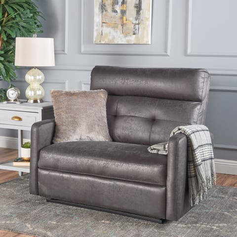 Halima Microfiber Wide Recliner Club Chair by Christopher Knight Home