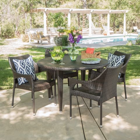 Rincon Outdoor 5-piece Round Dining Set by Christopher Knight Home