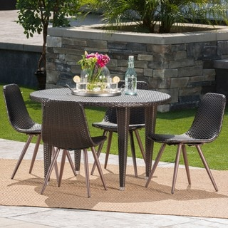 Greta Outdoor 5-piece Round Dining Set by Christopher Knight Home