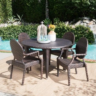Brooks Outdoor 5-piece Round Dining Set by Christopher Knight Home