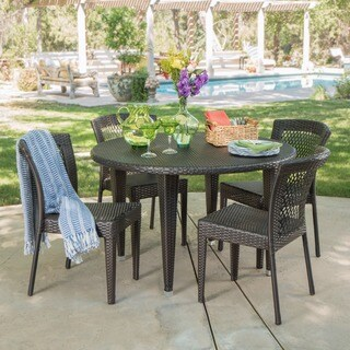 Whitney Outdoor 5-piece Round Dining Set by Christopher Knight Home