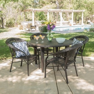Fuji Outdoor 5-piece Round Dining Set by Christopher Knight Home