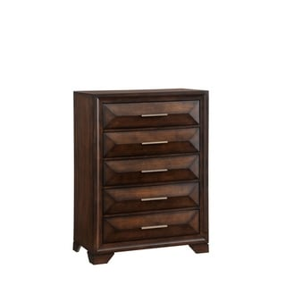 Anthem Five Drawer Chest In Distressed Brown Finish