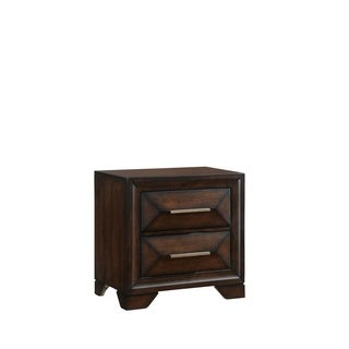 Anthem Two Drawer Nightstand In Distressed Brown