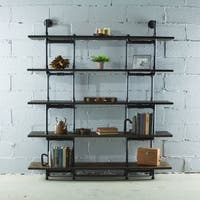 Furniture Pipeline Eugene Modern Industrial Bookcase