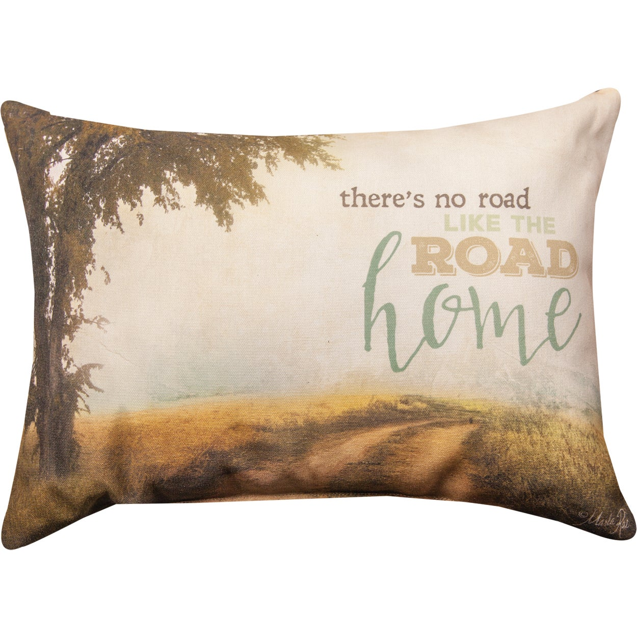 Manual Woodworkers There S No Road Like The Road Home Multicolored Cotton Blend Throw Pillow Overstock 16879212