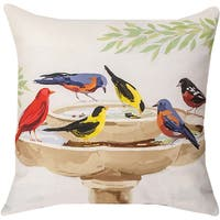 Manual Woodworkers Bath Time Multicolored 18-inch Throw Pillow