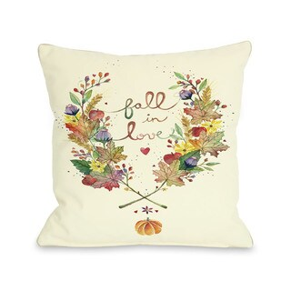 Fall in Love 16 or 18 Inch Throw Pillow by Ana Victoria Calderon