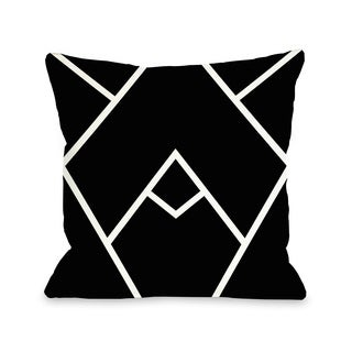 Mountain Peaks - Black White 16 or 18 Inch Throw Pillow by OBC (2 options available)