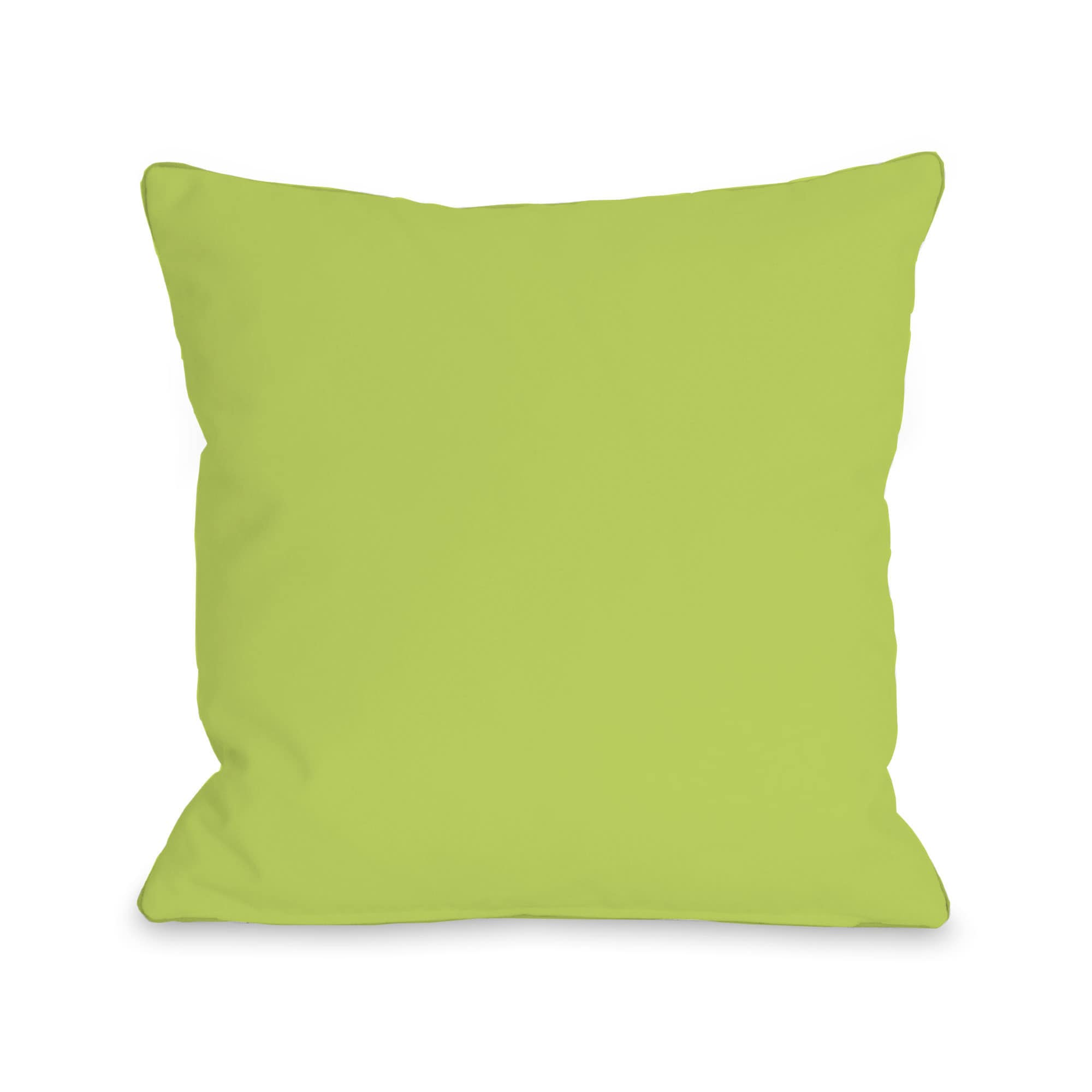 One Bella Casa Solid - Lime 16 or 18 Inch Throw Pillow by...