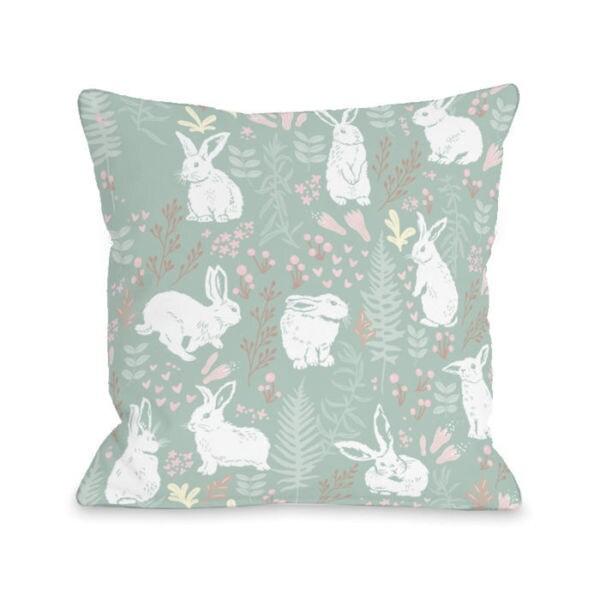 Raz 18 Colorful Bunny Easter Pillow: Shop Easter Bunny Print Greenmulti