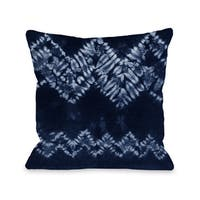 Dye Pattern Dream - Navy 16 or 18 Inch Throw Pillow by OBC