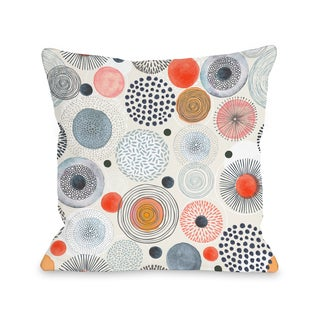 Amy Navy - Multi 16 or 18 Inch Throw Pillow by OBC