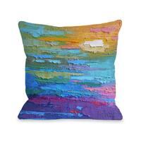 Summer Heat - Multi 16 or 18 Inch Throw Pillow by Carol Schiff