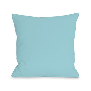 Solid - Pale Aqua 16 or 18 Inch Throw Pillow by OBC (2 options available)