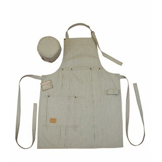 Denim Bib Apron and Chef's Hat Set