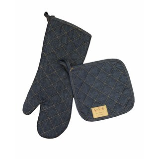 Denim Potholder and Oven Mitt Set (2 options available)