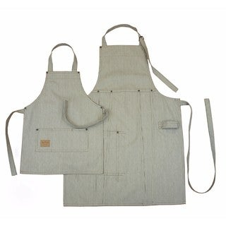 Denim Adult and Kids Bib Apron Set