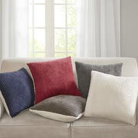 Madison Park Monterey Corduroy Plush Square 20 inch Throw Pillow