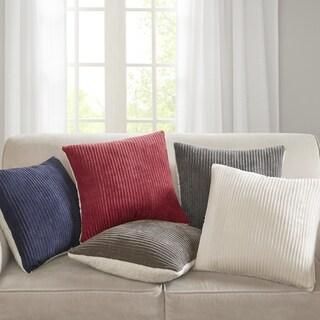 Madison Park Monterey Corduroy Plush Square 20 inch Throw Pillow