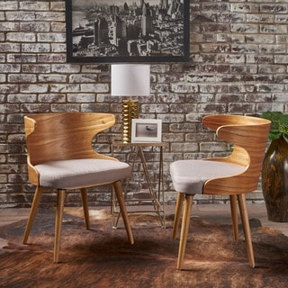 Kaden Mid Century Fabric Dining Chair (Set of 2) by Christopher Knight Home
