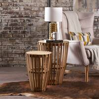 Brogan Mango Wood 2-piece Nesting Table Set by Christopher Knight Home